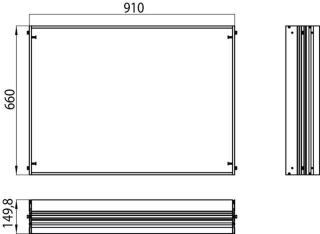 Emco asis Einbaurahmen 989700007, 910x660 mm