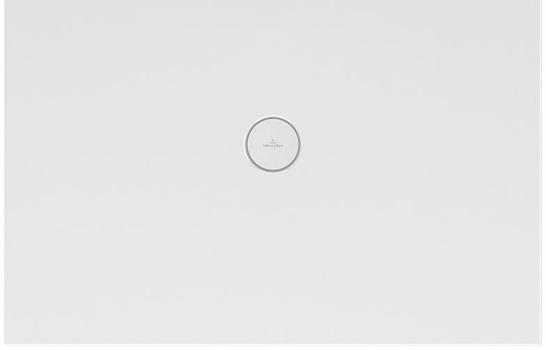 Villeroy & Boch Subway Infinity Duschwanne L:100xB:75xH:4 cm mit langer Seite geschnitten weiß mit Antirutsch 6229K202