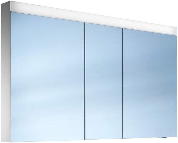 Schneider Pataline LED Spiegelschrank B:130xH:76xT:12cm 3 Türen weiß 161.130.02.02