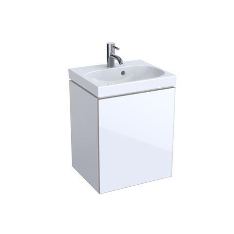 Geberit Keramag Acanto Handwaschbecken-Unterschrank B:44,6 x H:53,4 x T:37,6 cm Korpus: weiß hochglanz, Front: Glas weiß 500608012