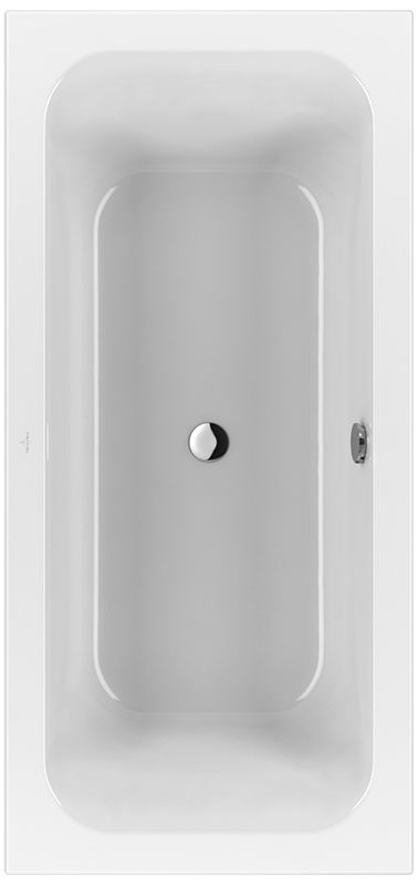 Villeroy & Boch Loop & Friends Duo Rechteck-Badewanne UBA199LFS2V-01 900x1900mm weiß mit eckiger Innenform