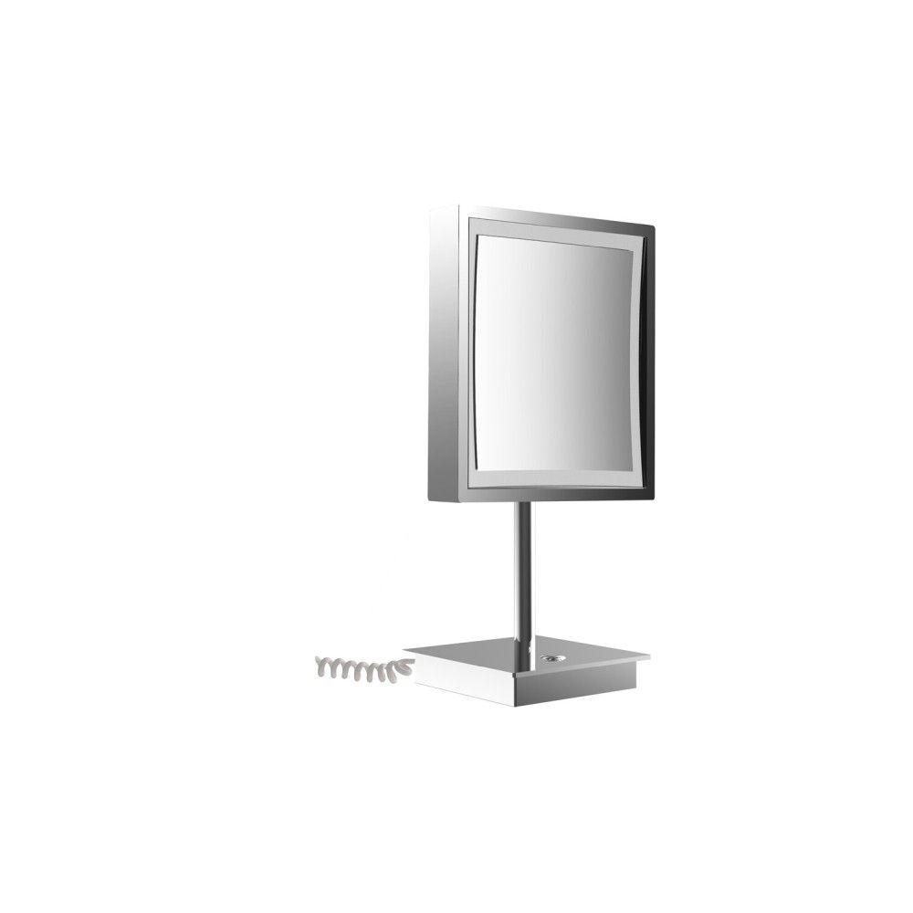 Emco Pure LED-Kosmetikspiegel D:20,3cm 3-fache Vergrößerung Standmodell chrom 109406015