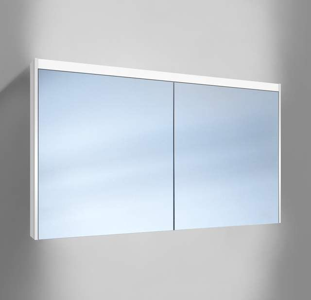 Schneider O-Line LED Spiegelschrank B:130xH:74,5xT:12,8cm 3 Türen weiß 164.330.02.02