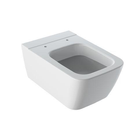 Geberit Keramag iCon Square Tiefspül-Wand-WC spülrandlos L:54xB:35cm Weiß mit KeraTect 201950600