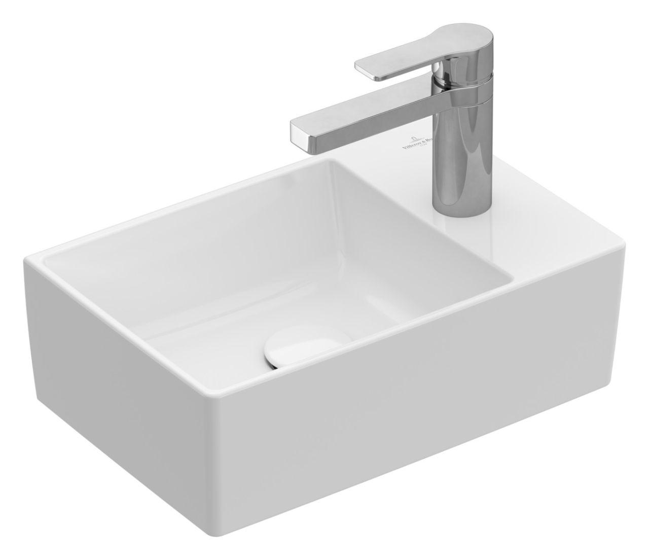 Villeroy & Boch Memento 2.0 Handwaschbecken B: 40cm ohne Überlauf Stone White CeramicPlus 43234GRW