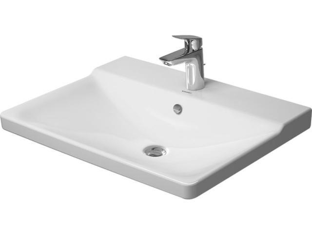 Duravit P3 Comforts Möbelwaschtisch B:65cm 1 Hahnloch mittig mit Überlauf weiß 2332650000
