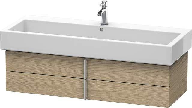 Duravit Vero Waschtischunterschrank wandhängend für 045412 B:115xH:29,8xT:43,1cm 2 Schubkästen europäische eiche VE620805252