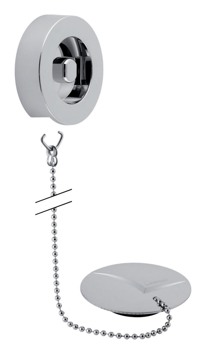 Geberit Fertigbauset zu Badewannenablauf mit Stopfen und Kette 52cm 240468211