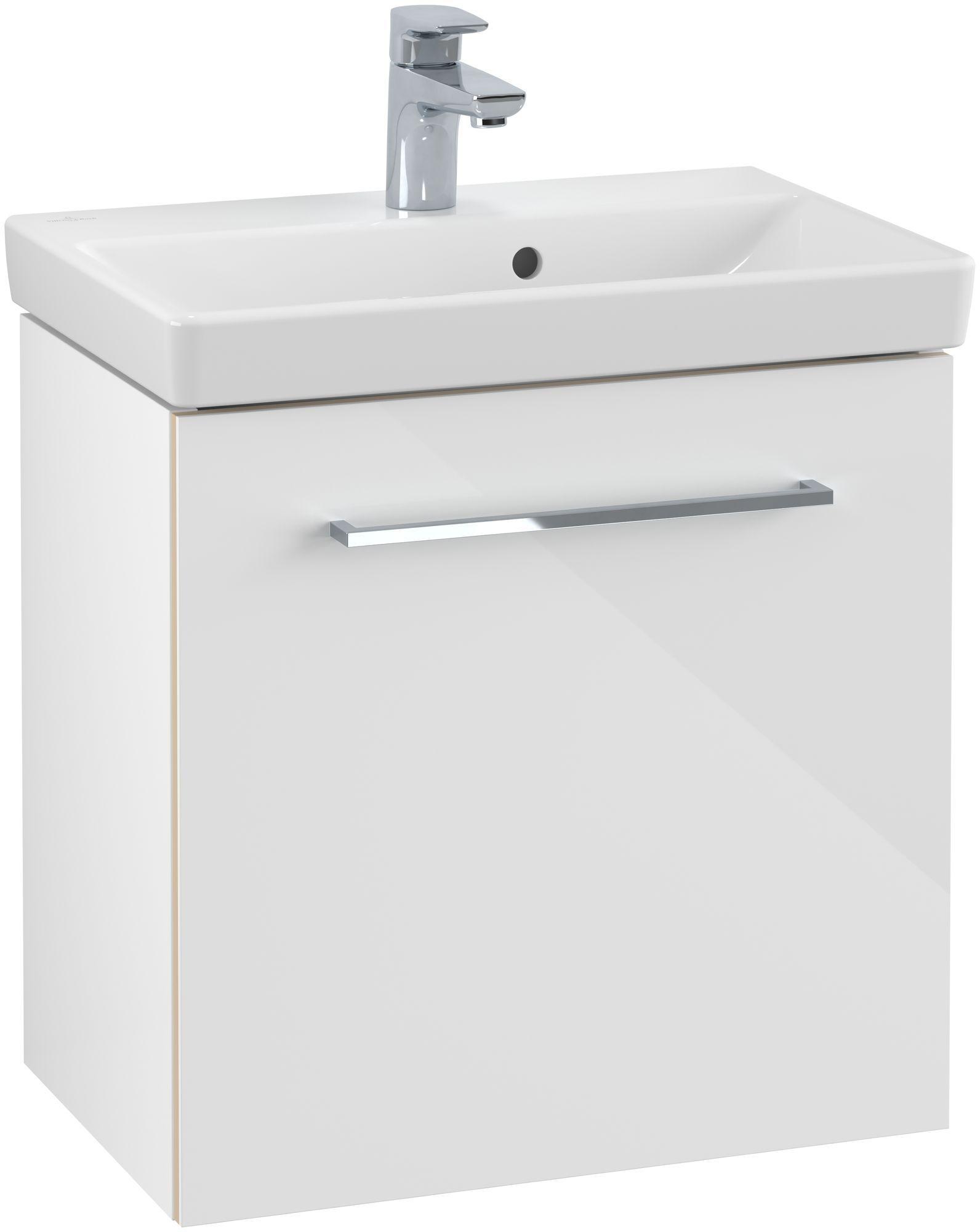 Villeroy & Boch Avento Waschtischunterschrank mit 1 Tür Türanschlag rechts B:51,2xH:52xT:34,8 cm crystal white A88801B4