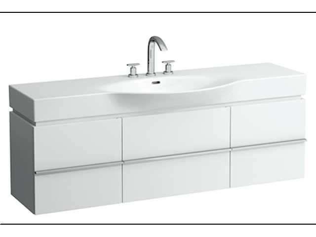 Laufen Case Waschtischunterschrank mit 2 Türen und 2 Schubladen mit soft-closing Funktion B:1490xT:375xH:460mm weiß matt H4013520754631