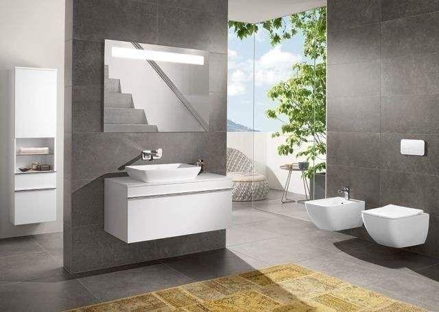 Villeroy & Boch Venticello Waschtischunterschrank 2 Auszüge B:1253xT:502xH:420mm santana oak Griffe chrom A93901E1