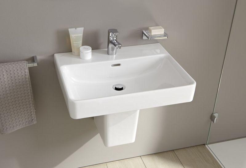 Laufen Pro S Waschtisch B:60xT:46,5cm 1 Hahnloch mittig mit Überlauf weiß mit CleanCoat LCC H8109634001041