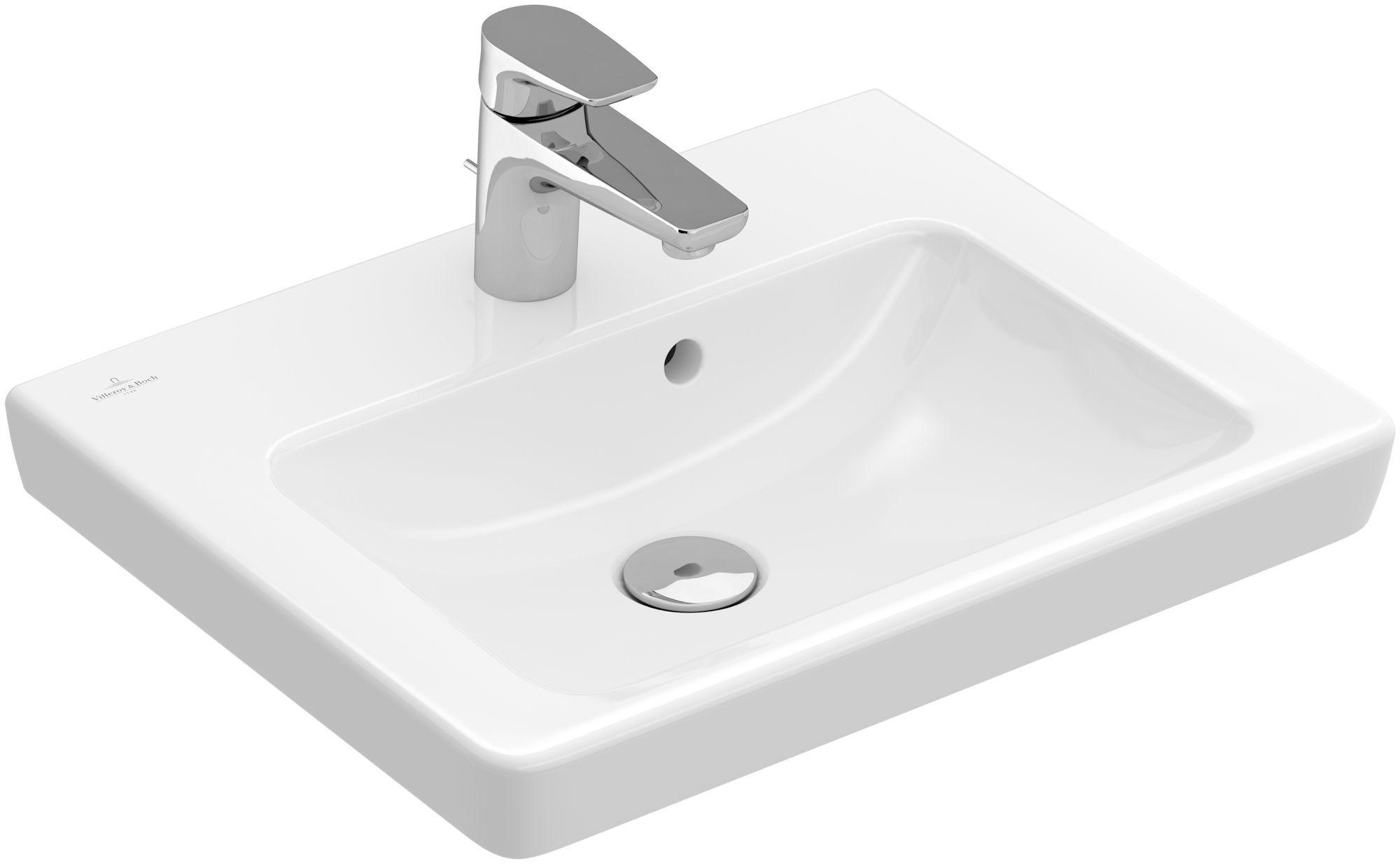 Villeroy & Boch Subway 2.0 Handwaschbecken B:50xT:40cm 1 Hahnloch mit Überlauf weiß 7315F001