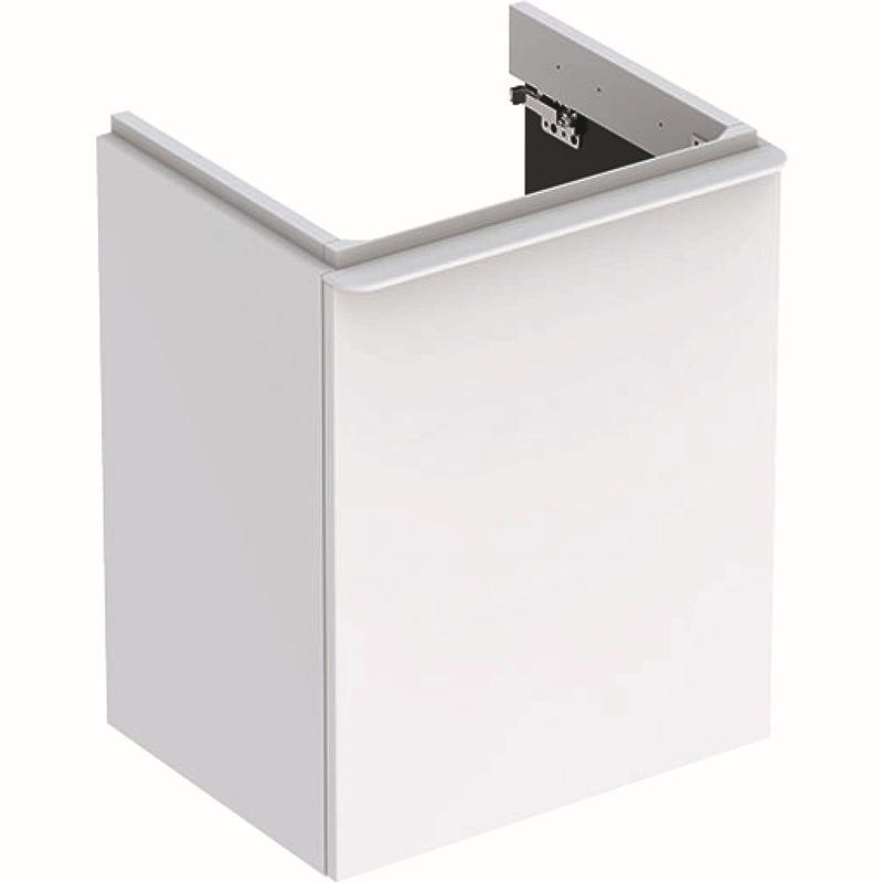Geberit Smyle Square Unterschrank für Handwaschbecken mit 1 Tür links 492x617x406cm weiß 500364001