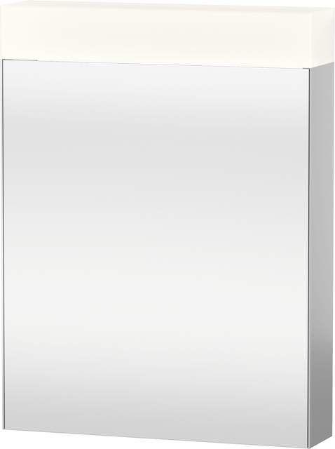 Duravit Vero Spiegelschrank mit Beleuchtung B:60xH:14,2xT:80cm 1 Spiegeltür Türanschlag links verspiegelt VE7500L0000
