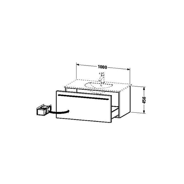 Duravit X-Large Waschtischunterschrank wandhängend B:100xH:45,6xT:52,2 cm mit 1 Auszug amerikanischer nussbaum XL606301313