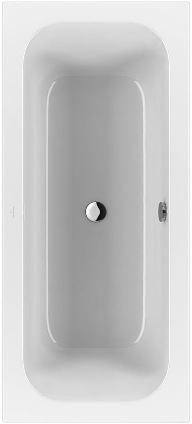 Villeroy & Boch Loop & Friends Duo Rechteck-Badewanne UBA180LFS2V-01 800x1800mm weiß mit eckiger Innenform