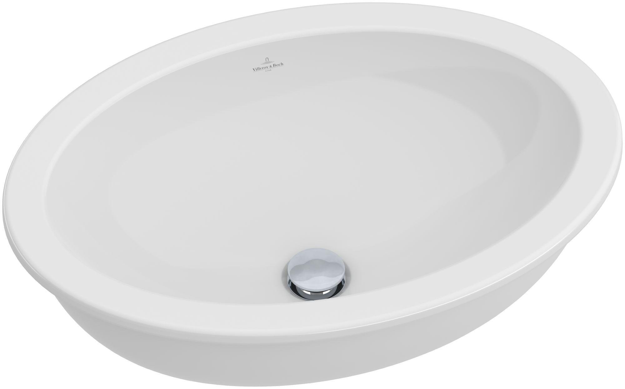 Villeroy & Boch Loop & Friends Unterbauwaschtisch B:56xT:37,5cm ohne Hahnloch ohne Überlauf starwhite mit Ceramicplus 616131R2