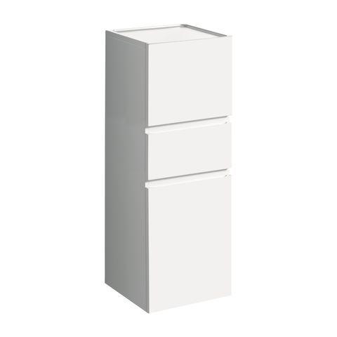 Geberit Keramag Renova Plan Seitenschrank mit 1 Schublade und 2 Türen Türanschlag wählbar B:390xT:360xH:1050mm weiß hochglanz 869030000