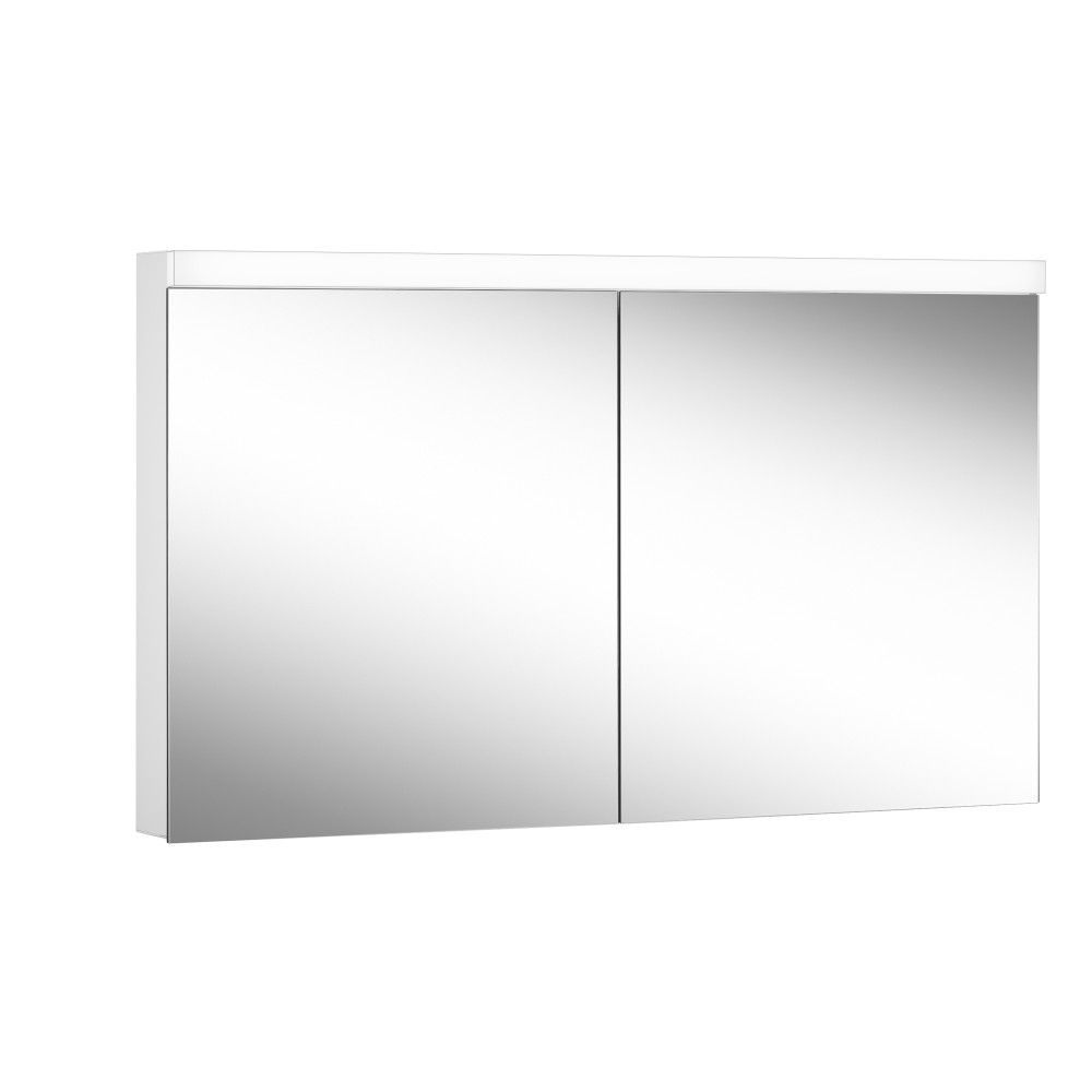 Schneider Spiegelschrank LOWLINE Plus 140/2/LED B:140xH:74,8xT:12cm mit Beleuchtung weiß 172.140.02.0201