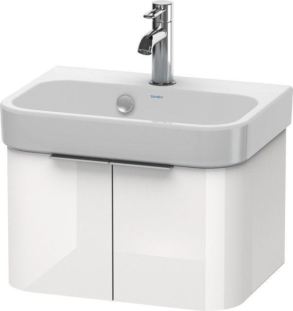 Duravit Happy D.2 Waschtischunterschrank wandhängend B:47,5xH:28xT:35cm 2 Türen weiß hochglanz H2626802222