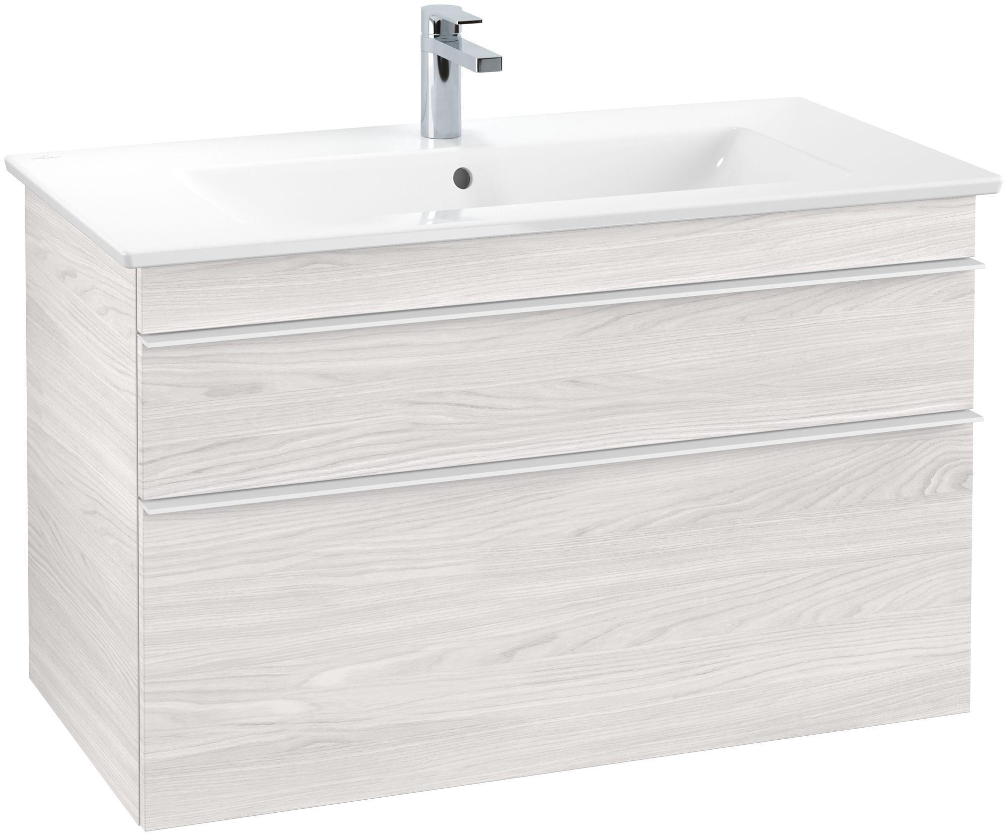 Villeroy & Boch Venticello Waschtischunterschrank 2 Auszüge B:95,3xH:59xT:50,2cm white wood Griffe white Griffe weiß A92602E8