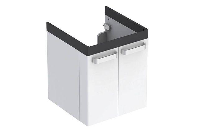 Geberit Keramag Renova Comfort Waschtischunterschrank mit 2 Türen B:530xT:525xH:620mm weiß matt grafit matt 808530000