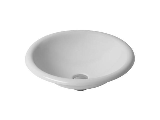 Duravit Architec Einbauwaschtisch rund DM:45cm ohne Hahnloch ohne Überlauf unten glasiert weiß 0318450000