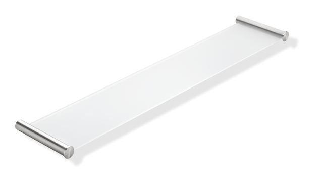 HEWI Ablage System 162 Edelstahl B: 600 mm Glasplatte 162.03.1105XA