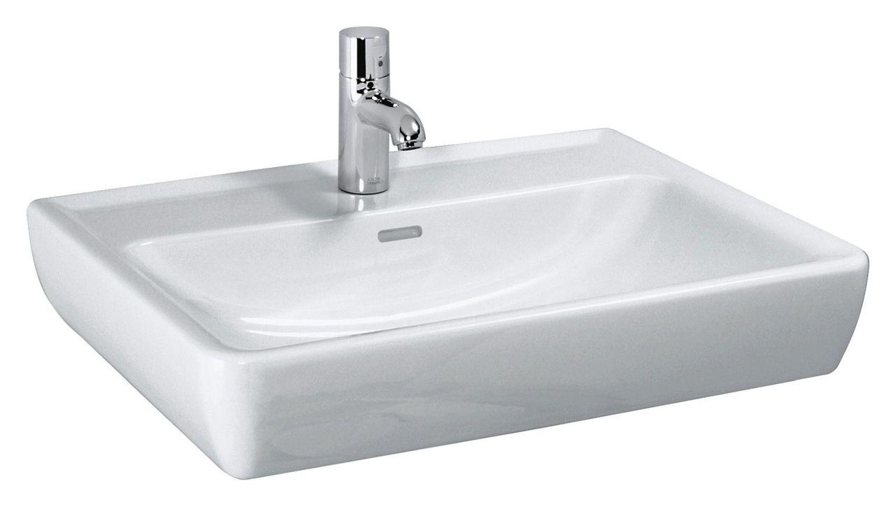 Laufen Pro Waschtisch B:65xT:48cm 1 Hahnloch mittig mit Überlauf weiß H8189530001041