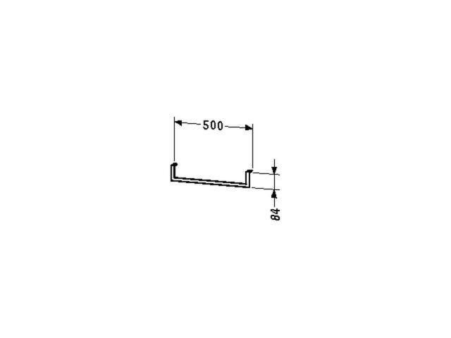 Duravit Handtuchhalter Universal 500x84mm unter Konsole mit Schubkasten chrom UV998500000