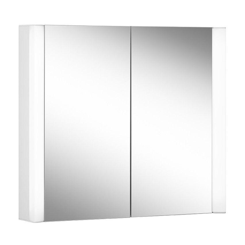 Schneider Spiegelschrank EASY Line Superior 80/2/LED B:80xH:70xT:12cm mit Beleuchtung weiß 175.080.02.0201