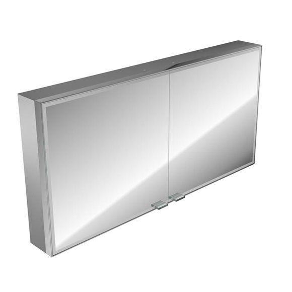 Emco asis prestige Lichtspiegelschrank ohne Radio 989706022, Aufputz, Breite 1187 mm