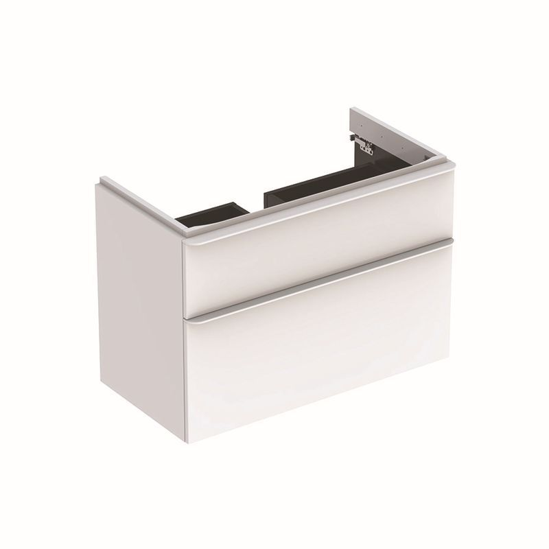 Geberit Smyle Square Unterschrank für Waschtisch mit 2 Schubladen 884x617x47cm weiß 500354001