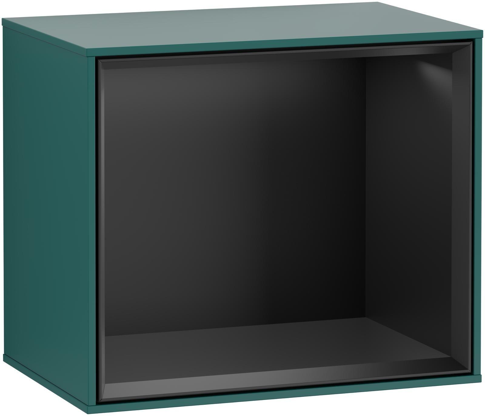 Villeroy & Boch Finion F58 Regalmodul LED-Beleuchtung B:41,8xH:35,6xT:27cm Front, Korpus: Cedar, Regal: Black Matt Lacquer F580PDGS