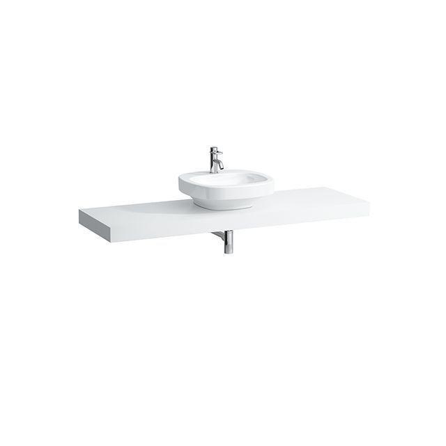 Laufen Case Waschtischplatte ohne Ausschnitt B:158xT:52cm weiß H4051500754631