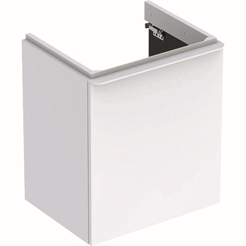 Geberit Smyle Square Unterschrank für Waschtisch mit 1 Tür rechts 536x617x433cm weiß 500365001