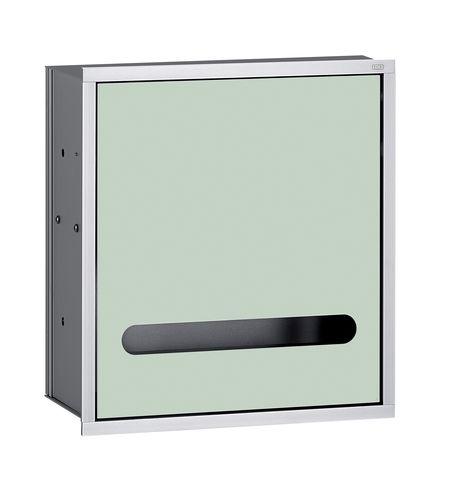 Emco asis 300 Papiertuchspendermodul Unterputz H:30cm ohne Einbaurahmen Aluminium optiwhite 972827421