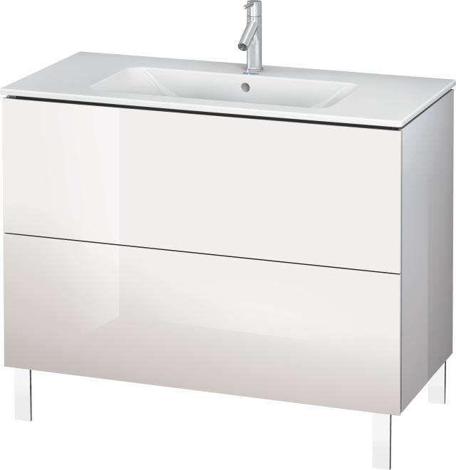 Duravit L-Cube Waschtischunterschrank bodenstehend für 233610 B:102xH:70,4xT:48,1cm 2 Auszüge weiß hochglanz LC662702222