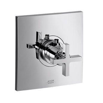 Hansgrohe Axor Citterio 39716000 Thermostat Unterputz High Flow Fertigset mit Kreuzgriff chrom