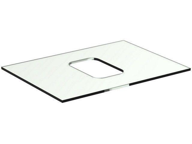 Ideal Standard TONIC II Glaskonsole für Schale symmetrisch 606x444x10mm weiß R4330SA