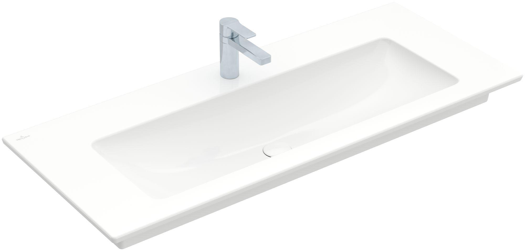 Villeroy & Boch Venticello Möbelwaschtisch 1 Hahnloch ohne Überlauf  B:120xT:50cm 1 Hahnloch ohne Überlauf weiß 4104CH01