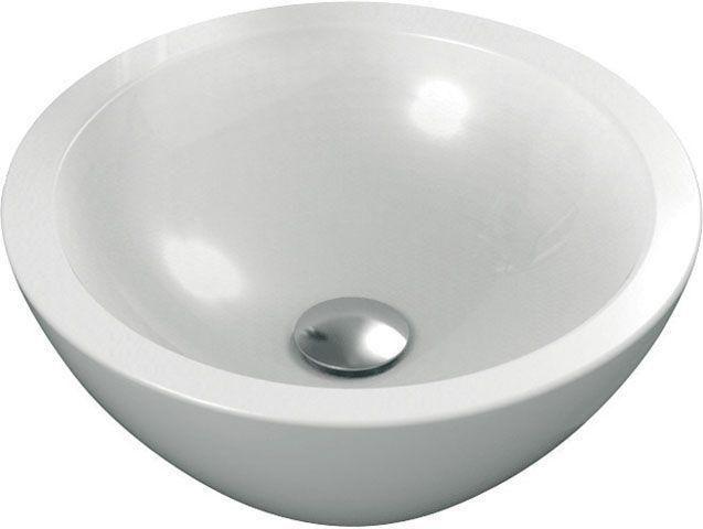 Ideal Standard Strada Schalenwaschtisch rund DM:42,5xH: 16cm ohne Hahnloch ohne Überlauf weiß mit Ideal Plus K0783MA