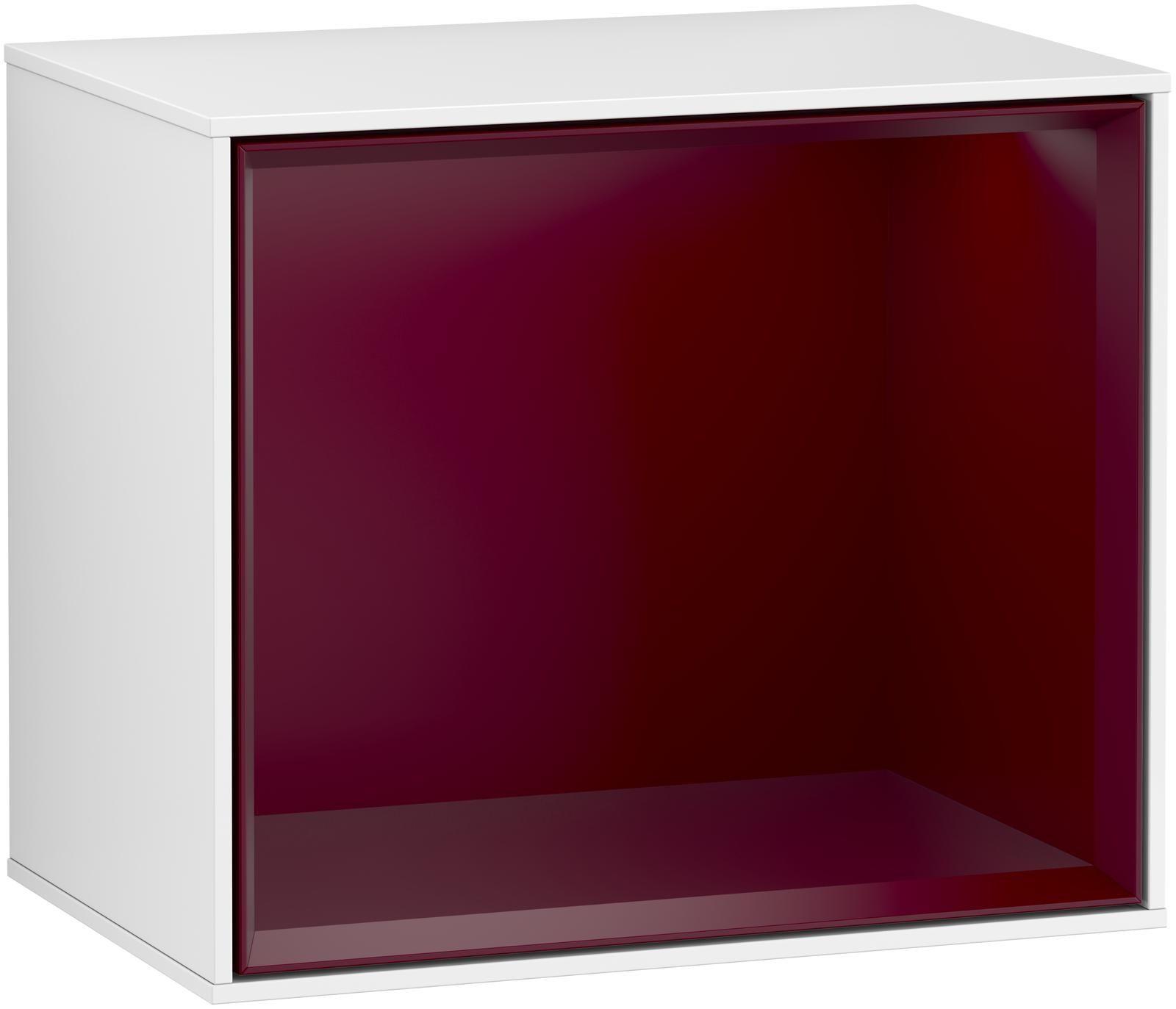 Villeroy & Boch Finion F59 Regalmodul LED-Beleuchtung B:41,8xH:35,6xT:27cm Front, Korpus: Glossy White Lack, Regal: Peony F590HBGF