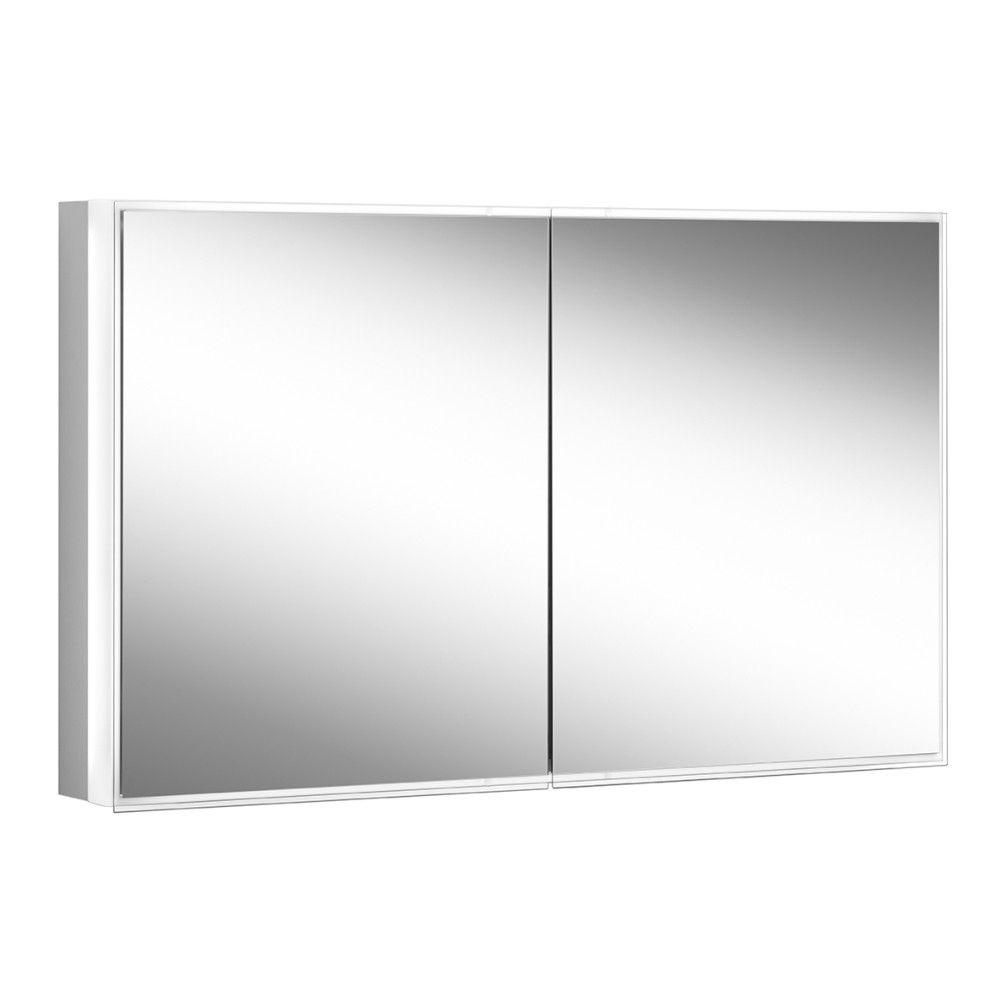 Schneider Spiegelschrank PREMIUM Line Superior 120/2/TW B:122,5xH:73,6xT:16,7cm mit Beleuchtung mit Kosmetikspiegel eloxiert 181.120.02.50