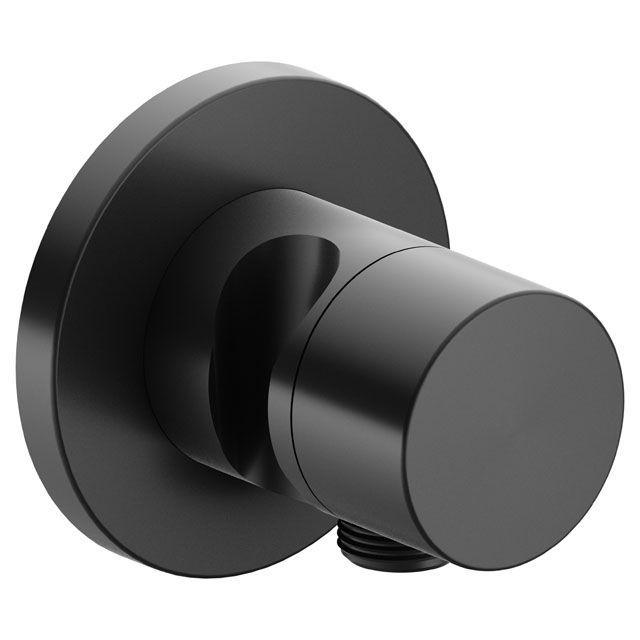 Keuco IXMO 2-Wege Umstellventil Pure Schlauchanschluss Brausehalter rund schwarzchrom gebürstet 59556130201