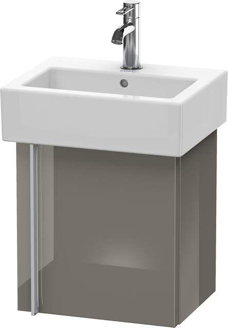 Duravit Vero Waschtischunterschrank wandhängend B:40xH:42,8xT:31,1cm 1 Tür Türanschlag rechts flannel grey hochglanz VE6271R8989
