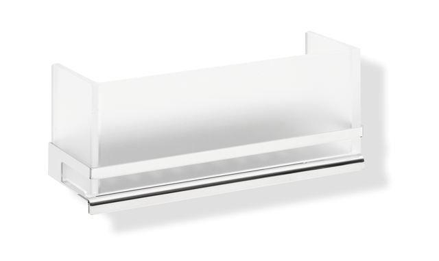 HEWI Duschkorb System 100 verchromt Einsatz Acrylglas satiniert 100.03.20040