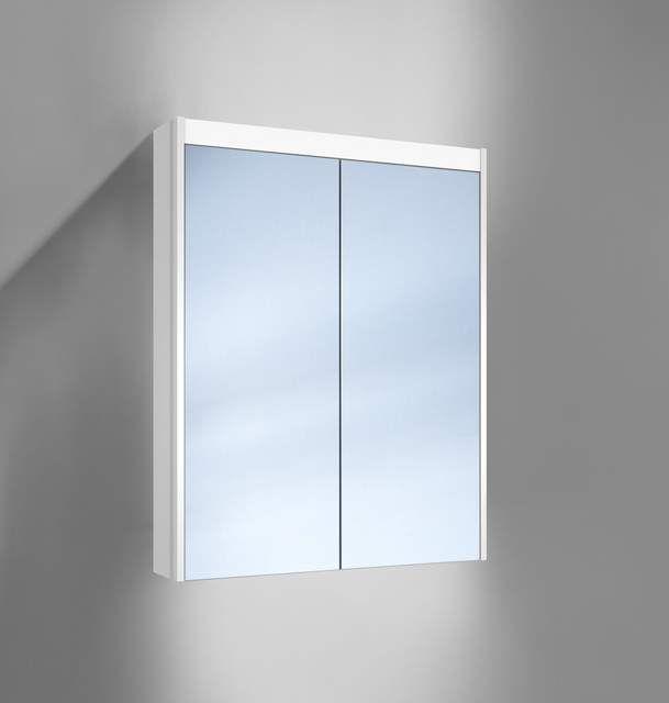 Schneider O-Line LED Spiegelschrank B:60xH:74,5xT:12,8cm 2 Türen weiß 164.260.02.02