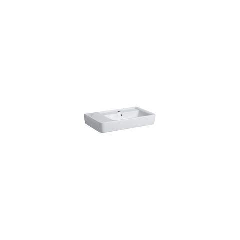 Geberit Keramag Renova Plan Waschtisch B:75xT:48cm 1 Hahnloch mit Überlauf weiß mit KeraTect 122175600